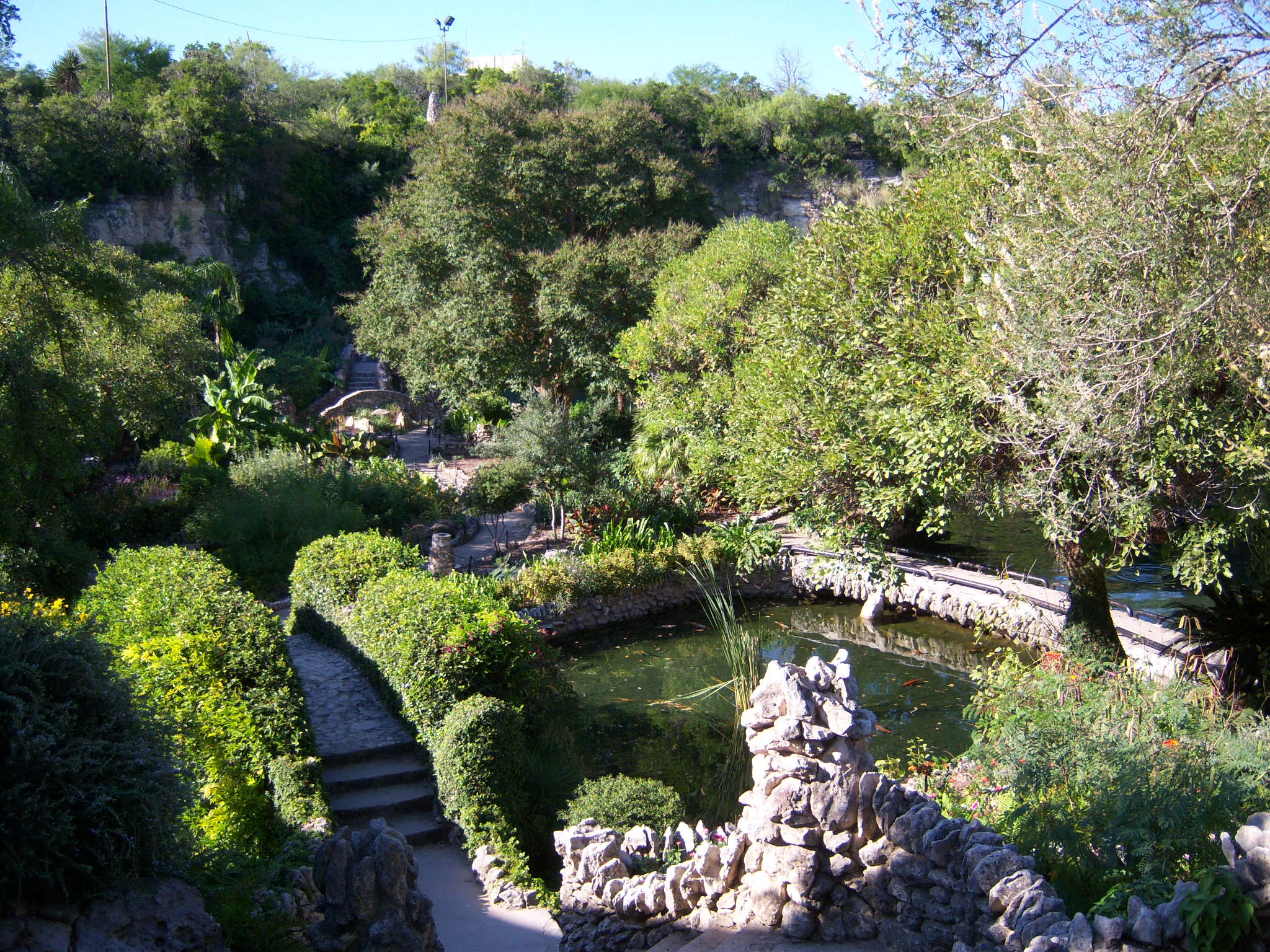 Photo of San Antonio's Japanese Tea Gardens.