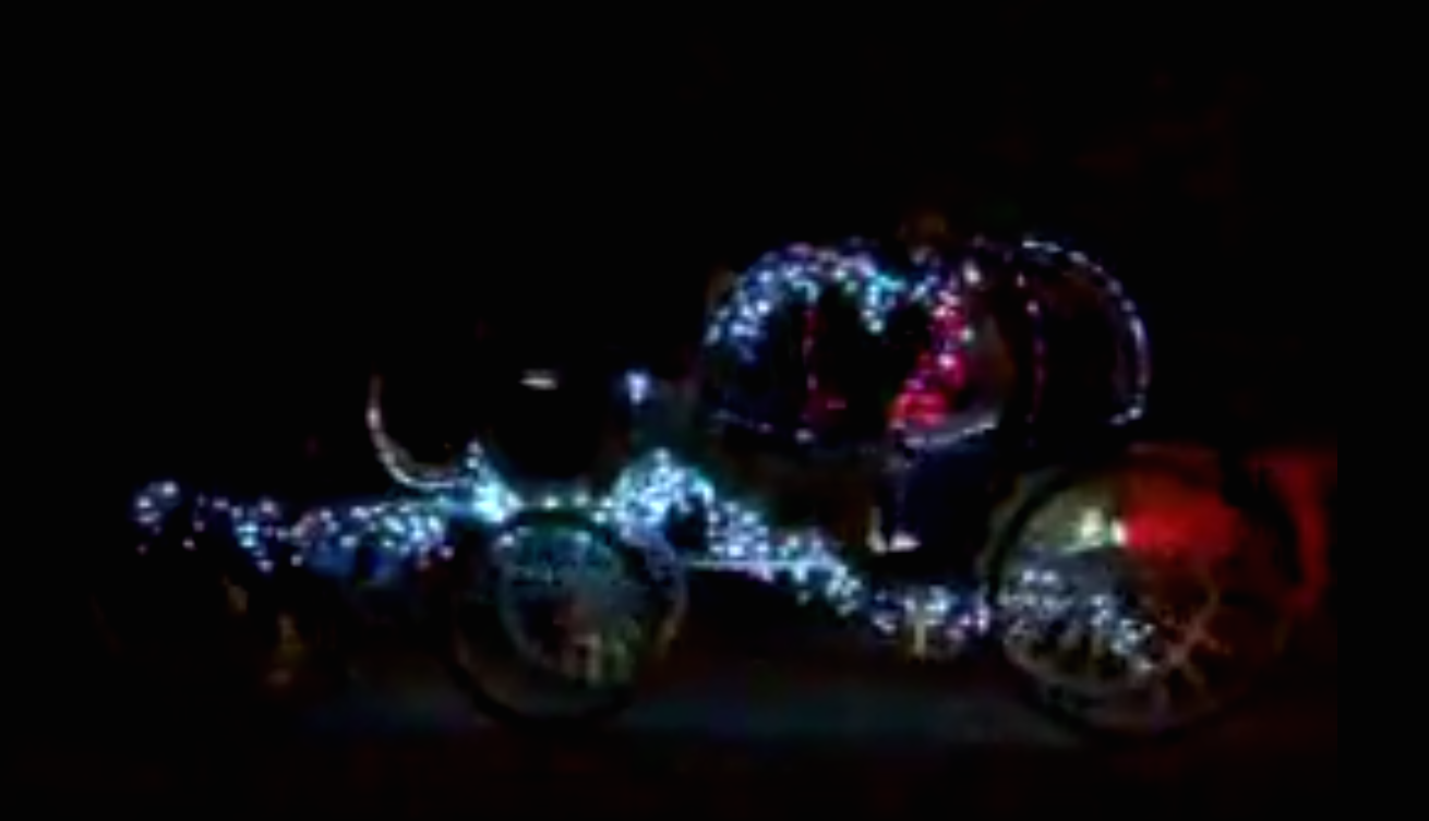 Photo of illuminated carriage ride in downtown San Antonio.