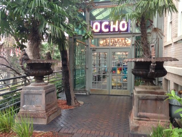 Photo of the entry to Ocho, the Hotel Havana's restaurant.