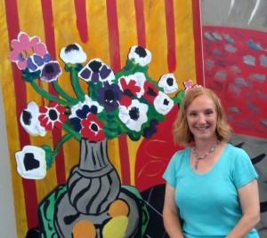 Photo of Denise Barkis Richter, San Antonio Tourist blogger, at the San Antonio Museum of Art's 2014 Matisse exhibit.