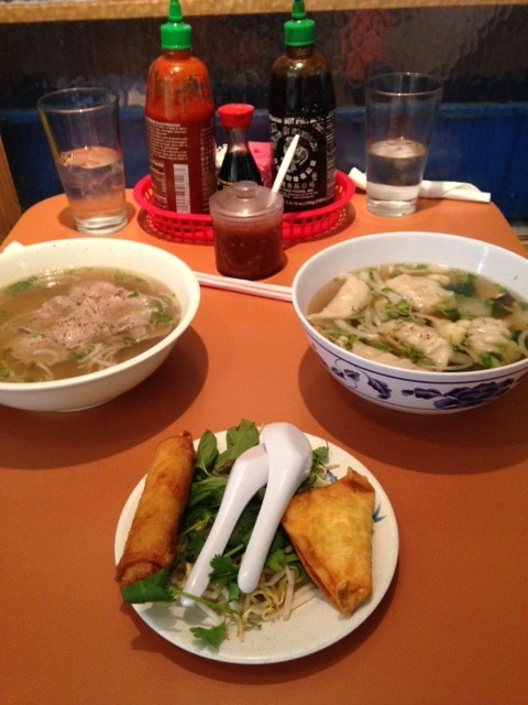 Photo of the lunch special at Pho Sure Vietnamese Restaurant.