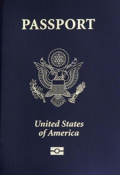 Photo of a USA passport.