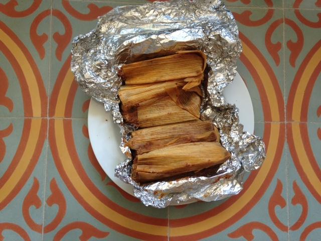 Photo of one dozen tamales unwrapped at Adelita Tamales & Tortilla Factory.