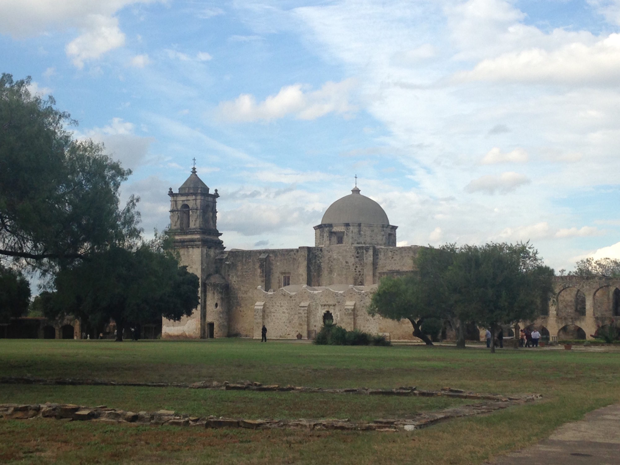 Photo of Mission San Jose, one of five colonial missions in San Antonio, Texas, that have been designated a UNESCO World Heritage Site.